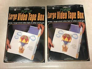 2 total vintage american greetings pop up video tape box gift hot image is loading 2 total vintage american greetings pop up video m4hsunfo