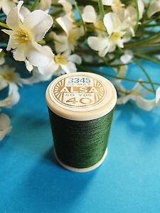 Style De Mode 365b/ Superbe Bobine De Fil Alsa Pour Broderie N° 40 Vert Sapin N° 3345