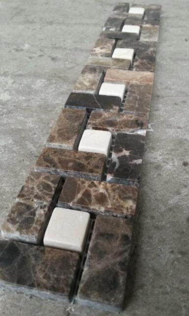 Black Mix Tiles 5x30 Bath Kitchen B512 Mosaic Marble Stone Border Wall Grey