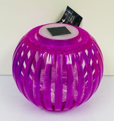 Pink Large Eclipse Solar Squat Carry Lantern With Handle Colour Changing