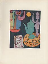 "1955 Vintage PAUL KLEE ""STILL LIFE"" FAMOUS LOVELY COLOR Art Print Lithograph"