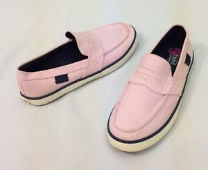 White Pink And Blue Deck Shoes