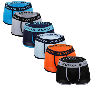 1-6 Pack Mens Boxer Shorts Underwear Breathable Stretch Briefs Trunks Underpants