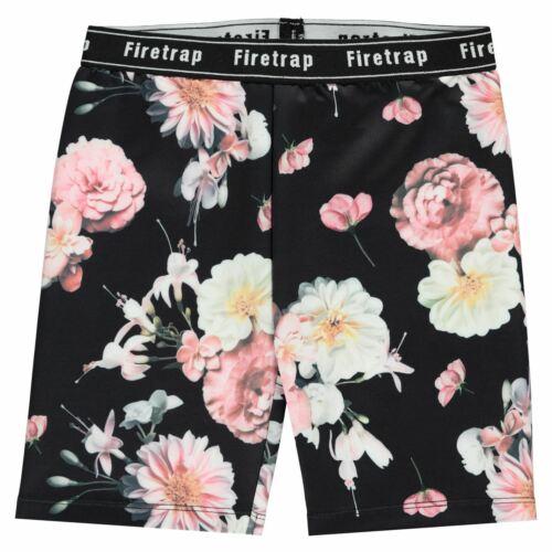Kids Girls Firetrap All Over Print Cycling Shorts Jersey New