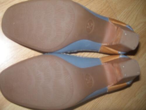 K Saldi Wide Sandalo tacco 41 pelle naturale con in Nº traforato in cinturino pelle fqW5t74E