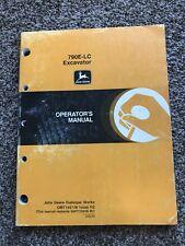 John Deere Model 790e Lc Excavator Owner Operator Maintenance Manual Omt146128