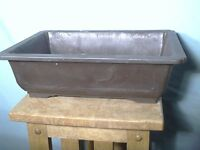 Mica Bonsai Pot Brown Rectangular Reb-8 8.25 X 6 X 2.75