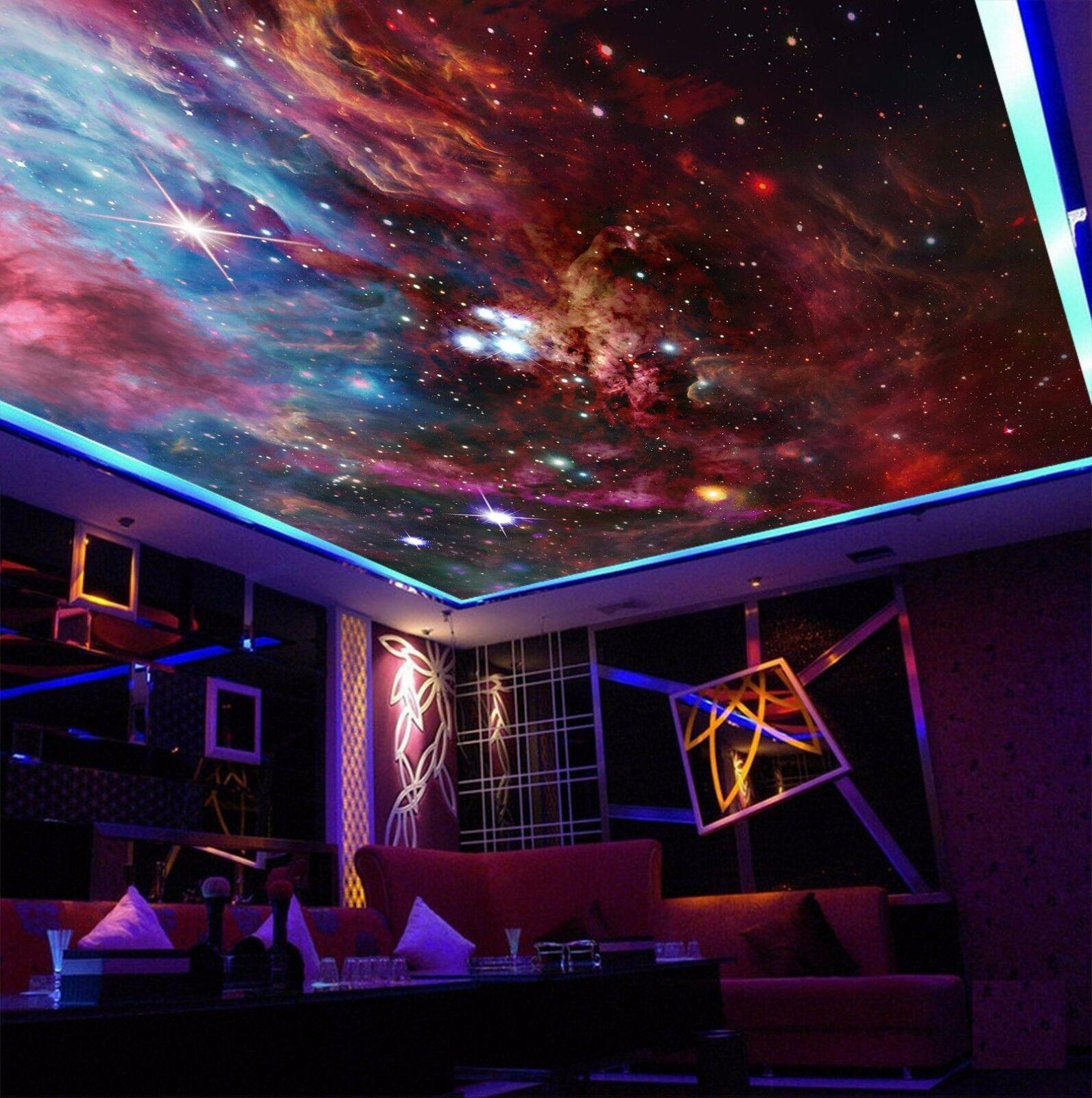 3D rosso cielo stellato 95 95 95 soffitto carta da Parati Murales Muro Decalcomania STAMPA DECO AJ Carta da parati GB 9fb930