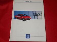 PEUGEOT 405 Limousine GL GLD GR GRD GRDT SR SRI SRDT MI 16 Prospekt von 1992