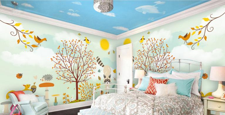 3D Anime Animal 477 Wallpaper Murals Wall Print Wallpaper Mural AJ WALL UK Lemon