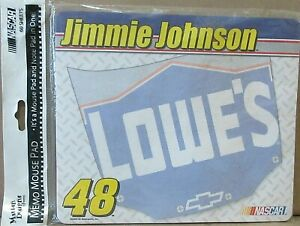 Jimmie-Johnson-48-NASCAR-Memo-Mouse-Pad-Brand-New-2003