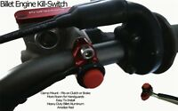 Honda Cr125 Cr 125 All Years Billet Engine Kill Switch Button Red on sale