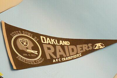 1977 Oakland Raiders Super Bowl 11 Champions Pennant
