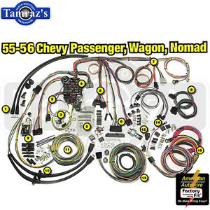 55 chevy wire harness 55-56 chevy classic update series complete body & interior ... #8