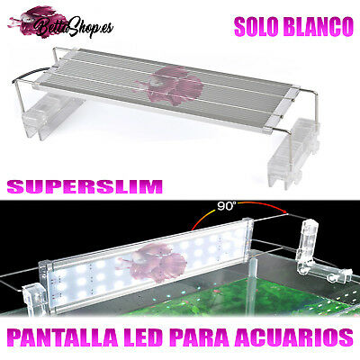 PANTALLA DE LUZ LED SUPERSLIM PARA ACUARIO 100-120CM LEDS BLANCOS