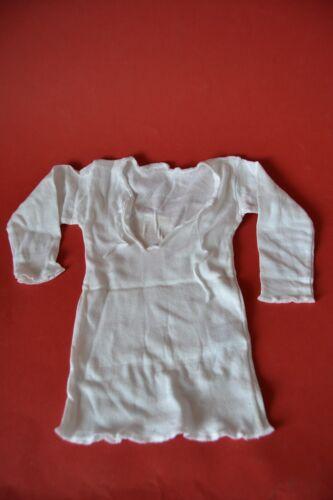 Babykleidung Baby Hemdchen Schlupfhemd Langarm Gr 82 weiß DDR