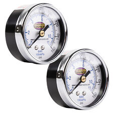 0 160 Psi Air Pressure Gauge 14 Npt Center Back Mount Cbm 2 Face 2 Pack