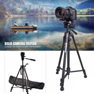 Professional Aluminium Lightweight Travel Camera Tripod For DSLR Canon Camcorder