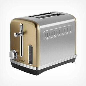 Tostapane Toaster acciaio VonShef 2 fette raccoglibriciole scongelamento TOAST