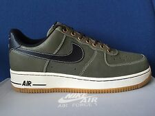 Nike Air Force 1 Low OLIVE sz 8 Black Brown Foamposite One PRM Boot 488298-206