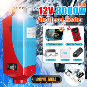 12V-8KW-Metal-Diesel-Air-Heater-LCD-Remote-Thermostat-Quiet-For-Trucks-Boat-Car