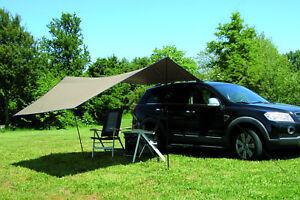 voile d 39 ombrage protection solaire pour voitures carside taille 365x365cm ebay. Black Bedroom Furniture Sets. Home Design Ideas