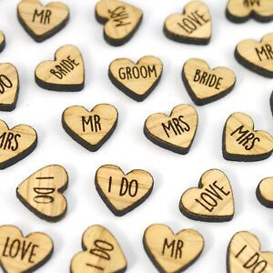 Wooden-Wedding-Heart-Love-Words-Table-Confetti-Mr-Mrs-I-Do-Bride-Groom-Rustic