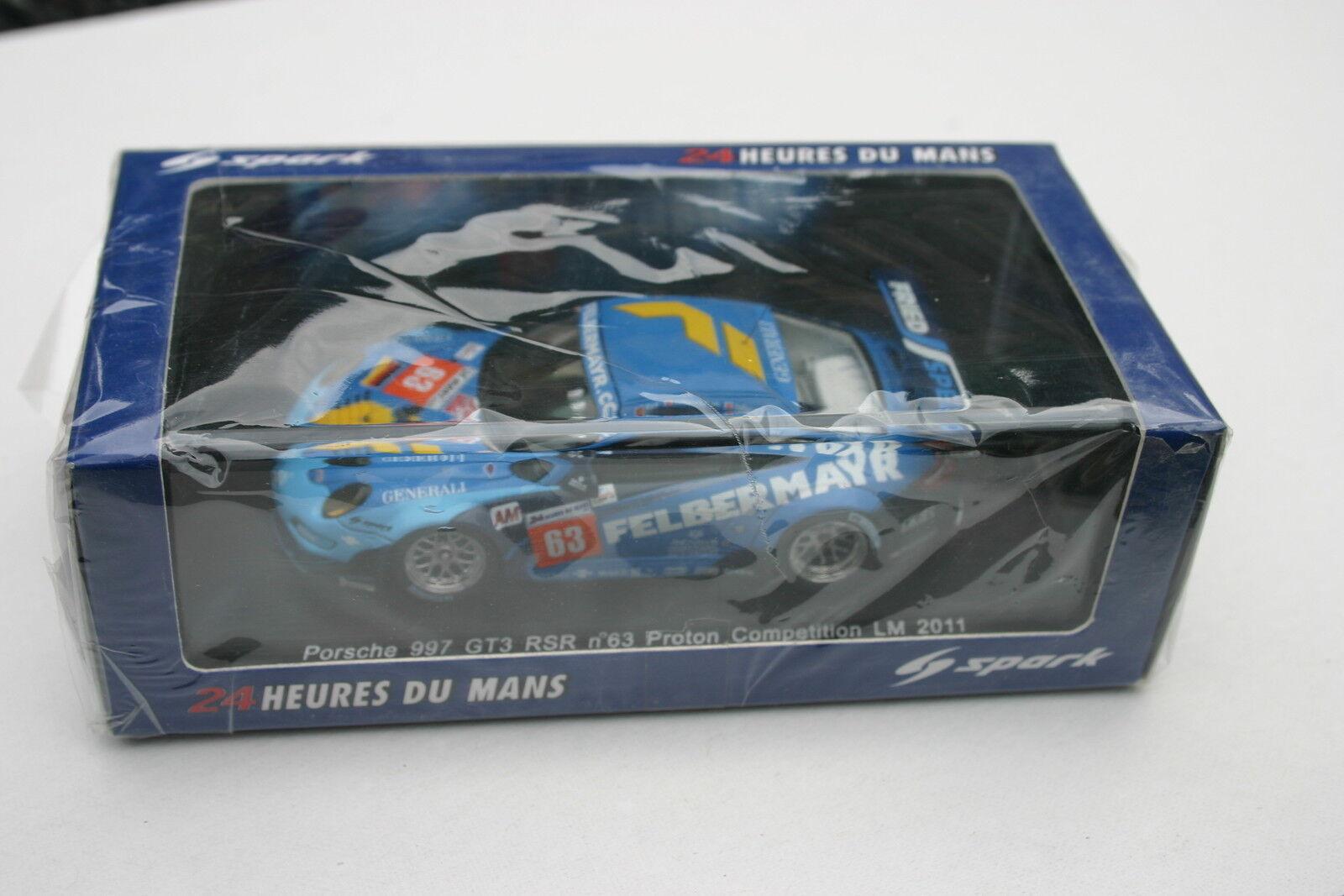ordene ahora los precios más bajos 1 43 Porsche Porsche Porsche 997 RSR GT3  63 Edición Limitada Mans 2011 projoones competencia Felbermayr (s) Ried  el mas de moda