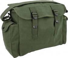 0309e37b23dc Retro Style Olive Green Army Canvas Webbing Haversack Satchel ...
