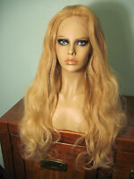 Remy Human Hair 28 Lace Front Hand Tied Wig - Long And Blonde Body Wave - Steph