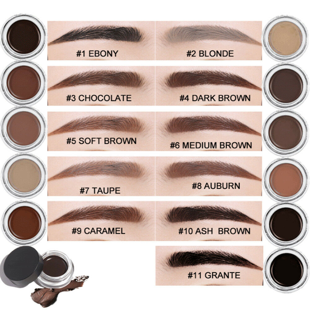 Women Eyebrow Cream Tint Enhancer Long Time Waterproof Brow Gel Eye Cosmetic 5