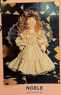 "NEW 1989 SEWING PATTERN Primitive Angel Doll ""Noelle"""