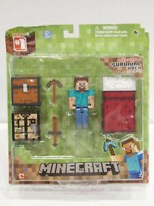 Minecraft Survival Pack Series 1 Action Figure Steve Sealed Overworld 16450