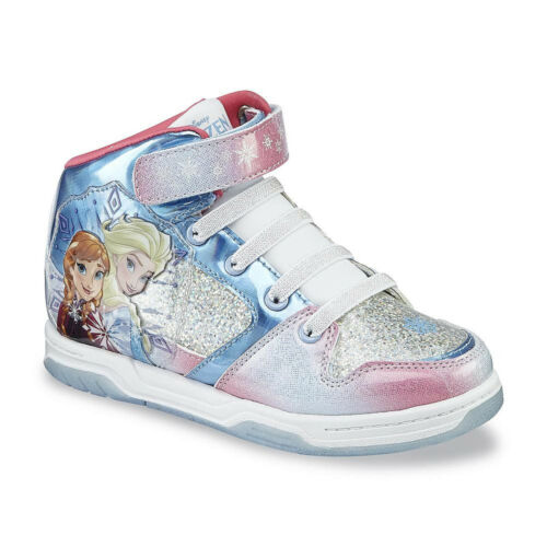 Blue//Pink Disney Frozen Elsa Anna High-Top Shoes sneakers Toddler//Youth