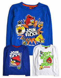 Boys-Angry-Birds-T-Shirts-New-Kids-Long-Sleeved-100-Cotton-Tops-4-10-Years