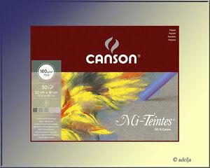 Pastellkreiden-Block-Farbiges-Pastellpapier-in-5-verschiedenen-Grautoenen-NEU