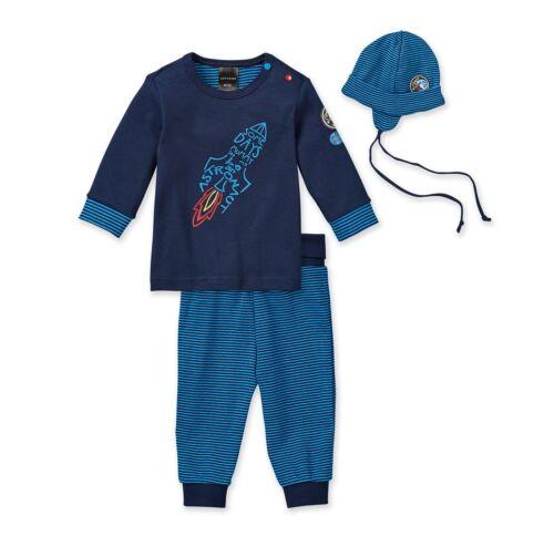 Jungen Schlafanzug mit Mütze Gr 74 * Schiesser 143918-2 tlg