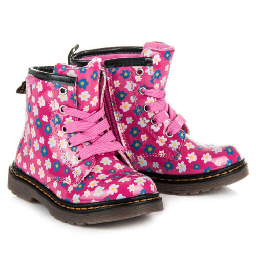 Girls Zip Up Spring Autumn Winter Hi Top Boots Shoes Leather Insole UK 7-10