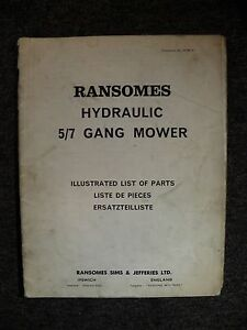 ransomes hydraulic 5 7 gang mower spare parts list ebay rh ebay com Ransomes Mower Parts ransomes gang mower spare parts