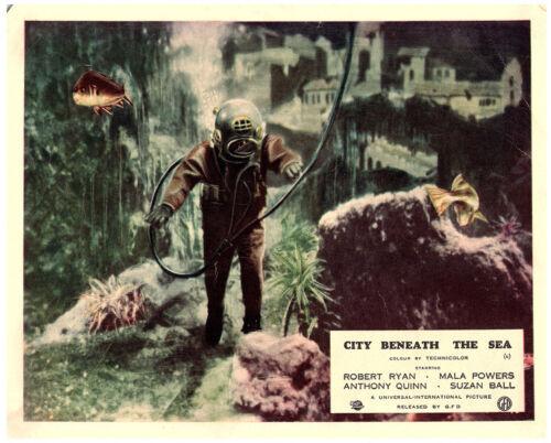 CITY BENEATH THE SEA Original British Lobby Card 1953 Deep Sea diver