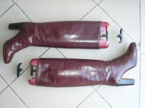 del 1982 vintage bordeaux T 36 Stivali Scarpino 416qzw