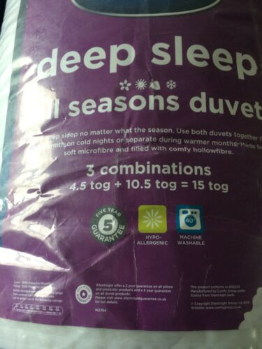 Silentnight Deep Sleep All Seasons Duvets 10.5   4.5 Tog Summer Winter