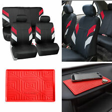 Neoprene Car Seat Covers For Auto Car Red With Anti Slip Dash Mat Fits Jeep Cherokee