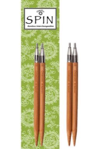 Spin en bambou aiguille à tricoter Interchangeable Tips environ 10.16 cm Chiaogoo 4 in 10 cm