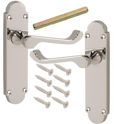8 Pack of Blenheim Polished Chrome Door Handles 168 x 40mm Epsom Lever Furniture
