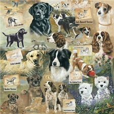 NEW Dog Jigsaw Puzzle Square 1000 Pieces Labrador Jack Russell Westie