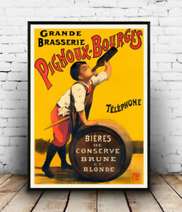 Pignoux-Bourges-Vintage-French-advert-poster-Wall-art-poster-reproduction