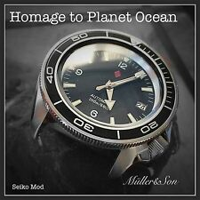Seiko SKX Planet Ocean Diver Watch Analog Mechanical Automatic SuperMod