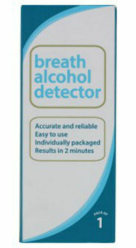 Single Use Highly Accurate Breathalyser Carry in Your Wallet or Purse Be Safe