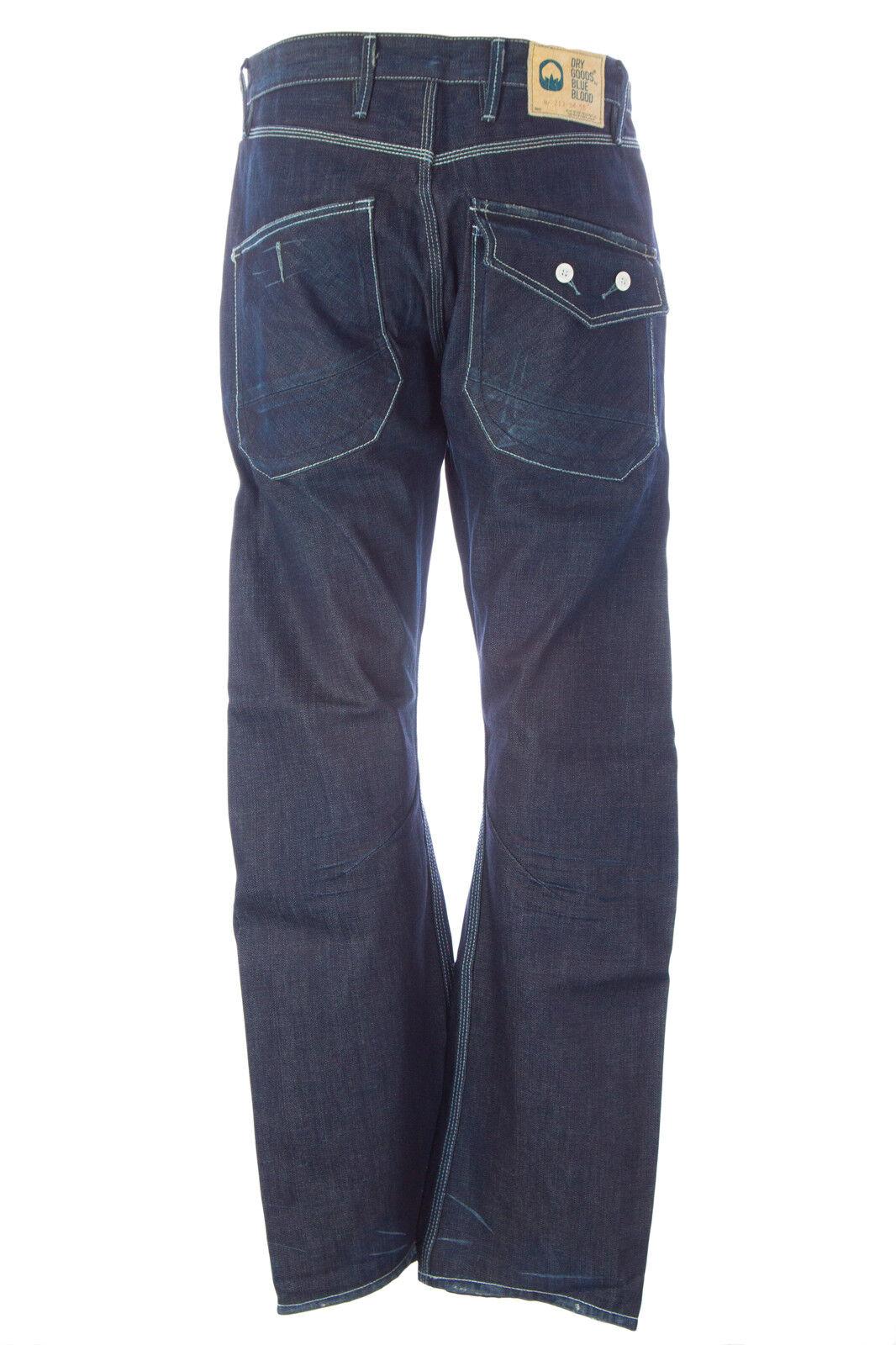 Blu Blu Blu Sangue Uomo Shoot C24 Jeans Tasca Bottone Jeans Mdgw0616 Nuova con Etichetta 21fc42